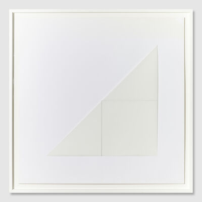 François Morellet, 'Angle pliage 135° angle médiane 90°', 1977