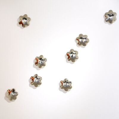 Stacy Phillips, 'Wall Flowers - White Gold Cluster'