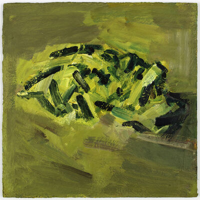 Frank Auerbach, 'Reclining Head of Julia'