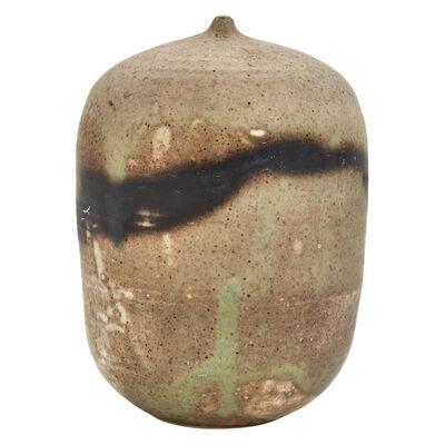 Toshiko Takaezu, 'Glazed Stoneware Closed Form Moon Pot Vessel'