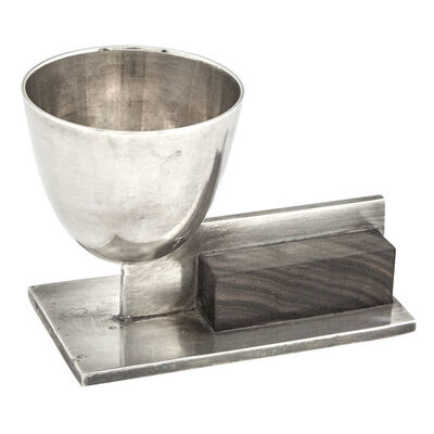 Maison Desny, 'Maison Desny Nickelled Metal and Rosewood Egg Cup', 1930s