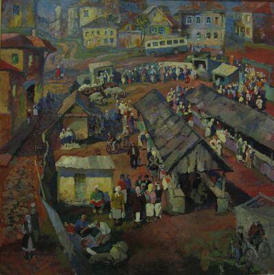 Vladimir Frolovich Stroev, 'Bazaar in Mordovia', 1970