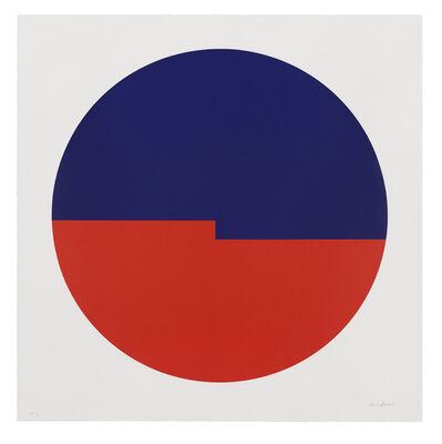 Carmen Herrera, 'Tondo: Azul y Rojo', 2019