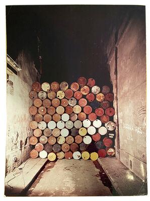 Christo, 'Barrels Wall Rue Visconti, SIGNED', 1962