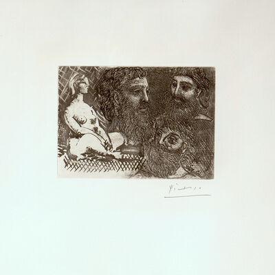Pablo Picasso, 'Marie-Therese en idole et trois Grecs Barbus (s.8861)', 1934