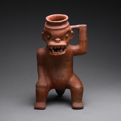 Pre-Columbian, Art of Costa Rica, 'Terracotta Effigy Vessel', ca. 300 AD to 500 AD