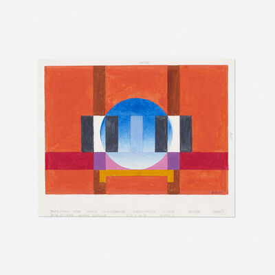 Herbert Bayer, 'study for Structure with Circle tapestry', 1983