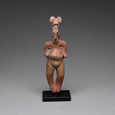 Colima Culture, 'Colima Sculpture of a Standing Woman', 300 BC to 300 AD