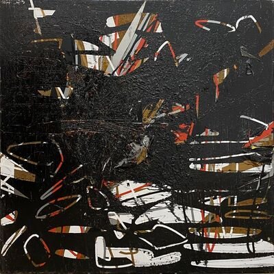 Alejandro Contreras, 'Rusted Red, White and Black series 2', 2019