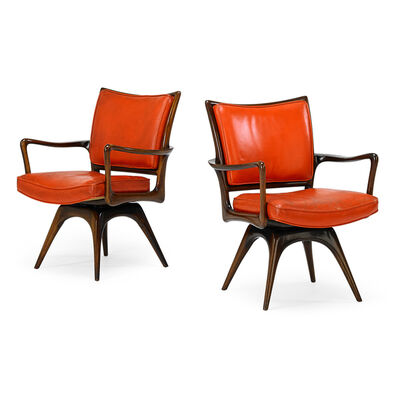 Vladimir Kagan, 'Two Swivel Armchairs, New York', 1950s