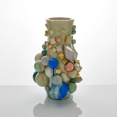 Kate Malone, 'A Bright Atomic Magma Spiral Vase', 2018