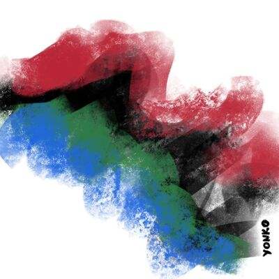 Yonko Kuchera, 'Black, Blue, Green, and Red', 2019