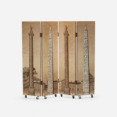 Piero Fornasetti, 'Obelischi folding screen', 1950