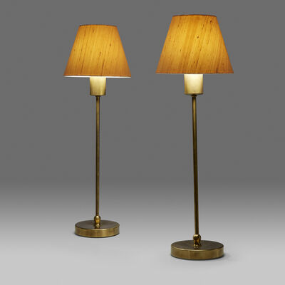 Josef Frank, 'Pair of Table Lamps, Model 2332, Svensk Tenn, Sweden'