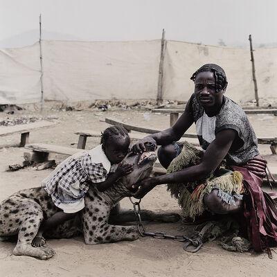 Pieter Hugo, 'Mummy Ahmadu and Mallam Mantari Lamal with Mainasara, Abuja, Nigeria from The Hyena and Other Men', 2005