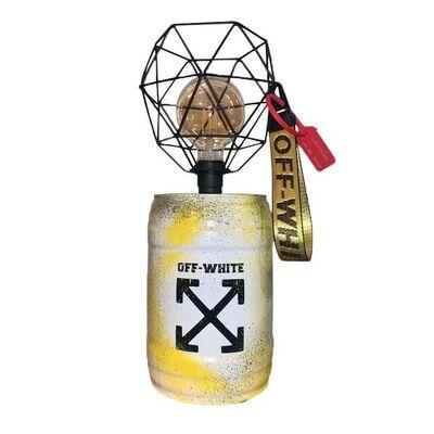 Cdrik, 'BARREL LAMP OFF WHITE', 2021