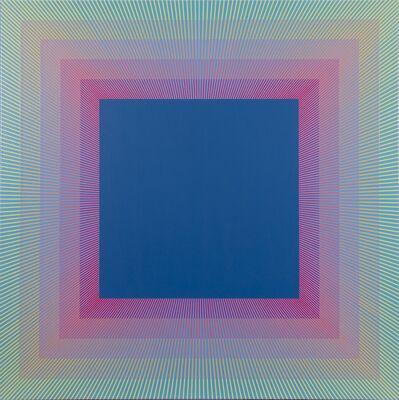 Richard Anuszkiewicz, 'Rainbow Squared Blue', 2019