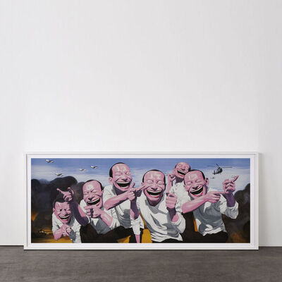 Yue Minjun, 'Fighting (from Snatched Ecstasy)', 2009