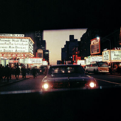 Mario Carnicelli, '42nd Street at night, New York', 1966