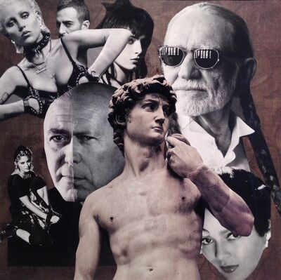 Barbara Able, 'Collage 18 - David by Michelangelo, Willie Nelson, Madonna, Bridgette Nielson, George Clooney, Bruce Willis, Ava Gardner', 2018