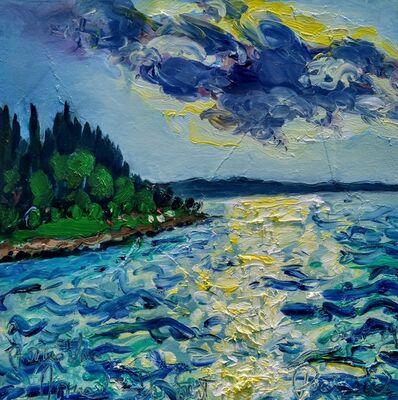 Norma de Saint Picman, 'Water paintings summer 2019 - plein air in situ paintings, Forma Viva, Le soleil caché ', 2019