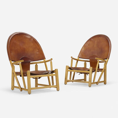Werther Toffoloni, 'Hoop lounge chairs pair', c. 1972