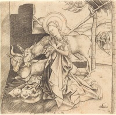 Israhel van Meckenem, 'The Nativity'