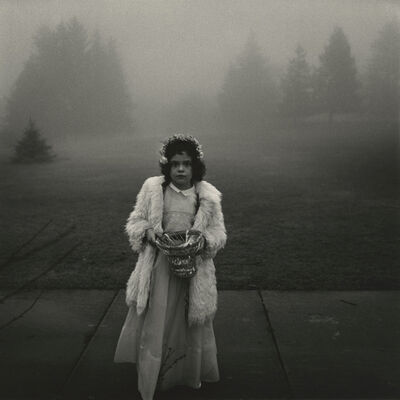 Diane Arbus, 'A flower girl at a wedding, Conn.', 1964