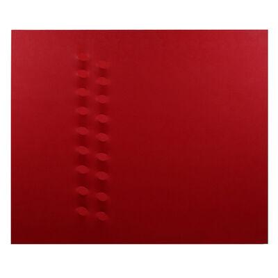 Turi Simeti, '18 ovali rossi', 2016