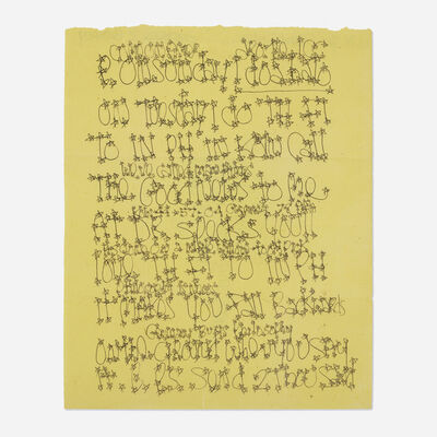 James Lee Byars, 'letter mailed to Tommy Longo', c. 1975