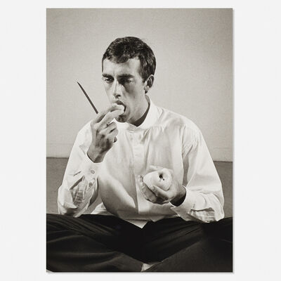 Peter Hujar, 'Forbidden Fruit (David Wojnarowicz Eating an Apple in an Issey Miyake shirt) from The Twelve Perfect Christmas Gifts from Dianne B. portfolio', 1983