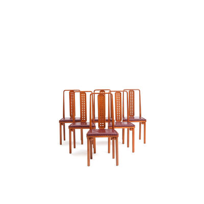 Josef Hoffmann, 'Set of six chairs', circa 1905