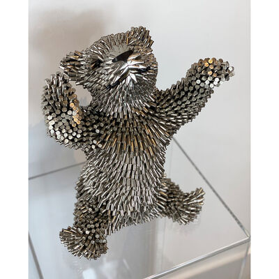 Federico Uribe, 'Silver Cub, Arms Up', 2021