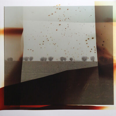 Dianne Bos, 'Flanders Landscape (front line with red blast)', 2014