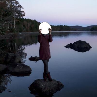 Cig Harvey, 'Sadie and the Moon, Lake Megunticook'