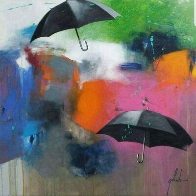 Pedro Gallardo, 'Landscape and umbrella', 2019