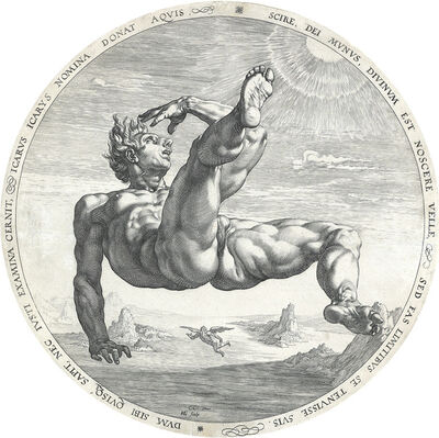 Hendrik Goltzius, 'The Fall of Icarus', 1588