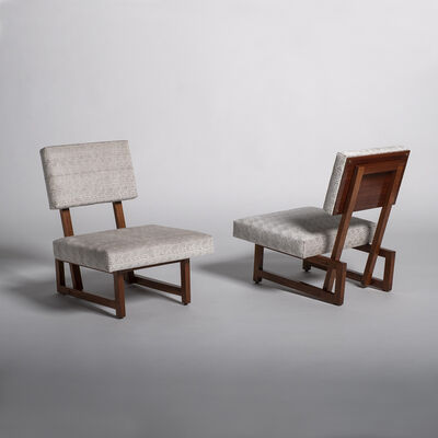 André Sornay, 'Pair of armchairs', ca. 1955