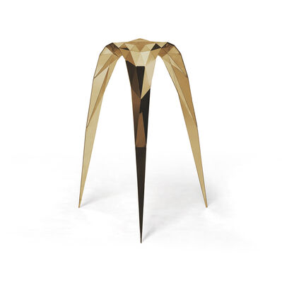 Zhoujie Zhang, 'Brass Triangle Stool', 2015