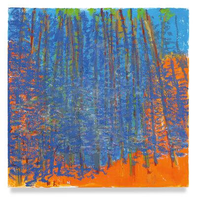 Wolf Kahn, 'Deep Blue Curve', 2019