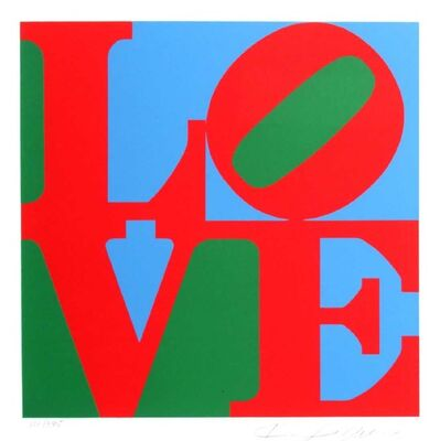 Robert Indiana, 'Love (Red Green Blue)', 1997