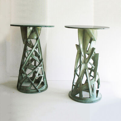 Francois Salem, 'Celadon Side Tables', 2014