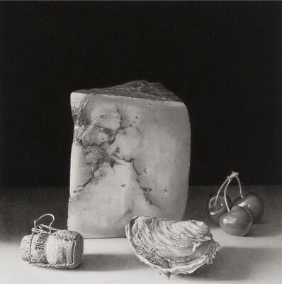 Josep Santilari, 'Cheese, oyster, cherries and champagne cap', 2015