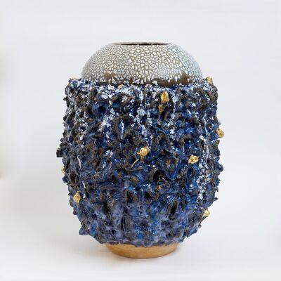 King Houndekpinkou, 'Vase Cavilux - Bleu', 2017