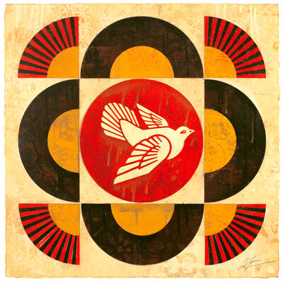 Shepard Fairey, 'Dove Geometric (Cream), ', 2018