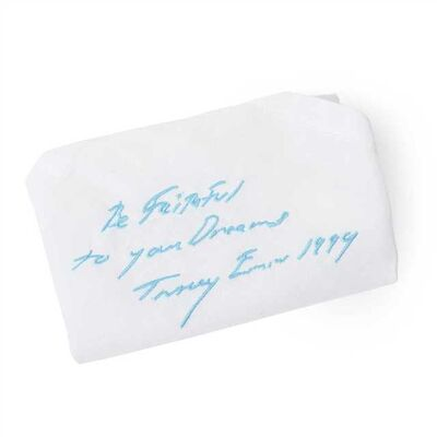"Tracey Emin, '""BE FAITHFUL TO YOUR DREAMS"" EMBROIDERED HANDKERCHIEF'"