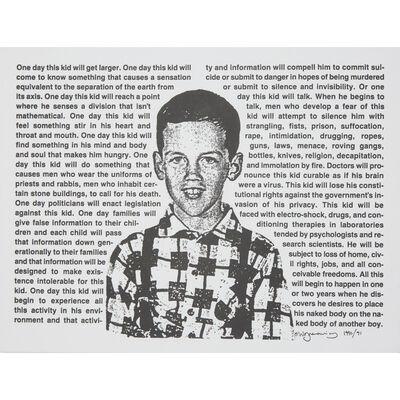 David Wojnarowicz, 'Untitled (One Day This Kid...)'