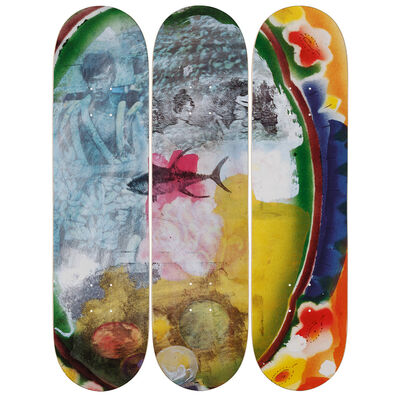 Robert Rauschenberg, 'Sri Lanka VI Skateboard Deck', 2017