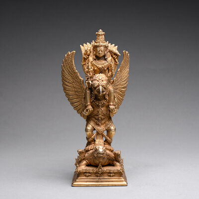 Unknown Indonesian, 'Gold Sculpture of Vishnu Riding on the Shoulders of Garuda', 900 AD to 1300 AD