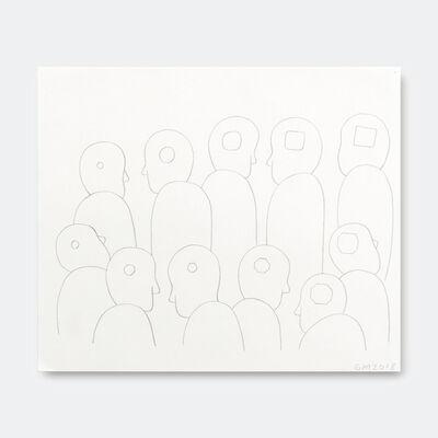 Geoff McFetridge, 'Conga Line of Heads Shape Min', 2018